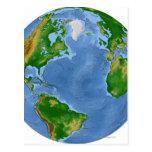 Mapa de la vegetación de Atlántico Norte Postal