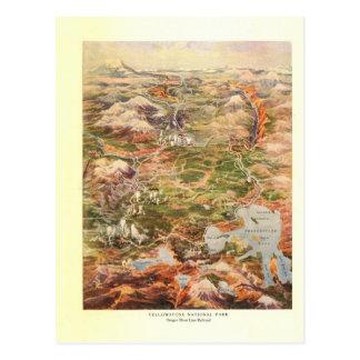 Mapa de la visión aérea 1910 - parque nacional de tarjetas postales