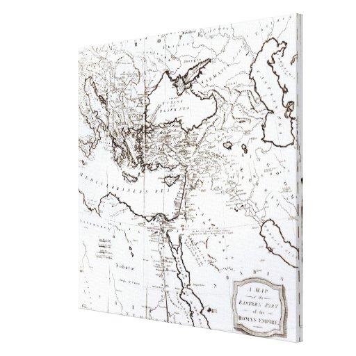 Mapa de la zona oriental del imperio romano impresión en lona