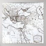 Mapa de la zona oriental del imperio romano impresiones