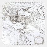 Mapa de la zona oriental del imperio romano calcomanía cuadradas personalizadas