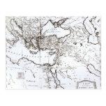 Mapa de la zona oriental del imperio romano postal