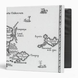 """Mapa de Laputa, Balnibari, Luggnagg Carpeta 1 1/2"""""""