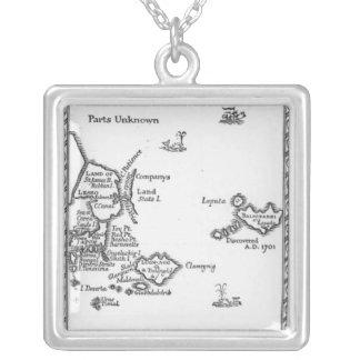 Mapa de Laputa, Balnibari, Luggnagg Collar Plateado