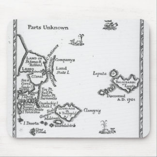 Mapa de Laputa, Balnibari, Luggnagg Mouse Pad