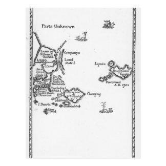 Mapa de Laputa, Balnibari, Luggnagg Postales
