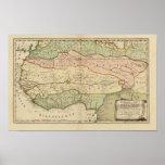 Mapa de las Áfricas occidentales del vintage 1679 Poster