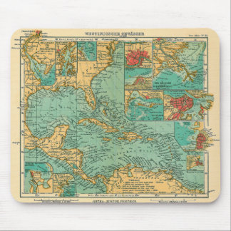 Mapa de las Antillas a partir de 1906 en alemán Alfombrilla De Raton