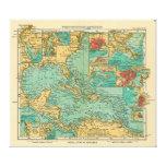Mapa de las Antillas a partir de 1906 en alemán Impresiones En Lienzo Estiradas
