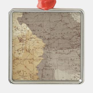 Mapa de las áreas de drenaje de los E E U U Ornamento Para Arbol De Navidad