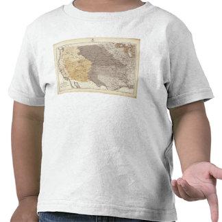Mapa de las áreas de drenaje de los E.E.U.U. Camiseta