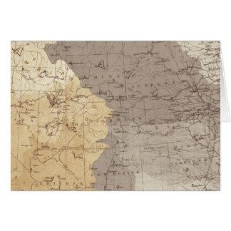 Mapa de las áreas de drenaje de los E.E.U.U. Tarjeta