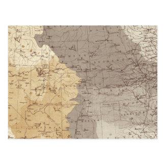 Mapa de las áreas de drenaje de los E.E.U.U. Postal