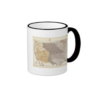 Mapa de las áreas de drenaje de los E.E.U.U. Taza
