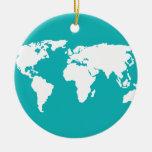 mapa de las azules turquesas ornamentos de reyes magos