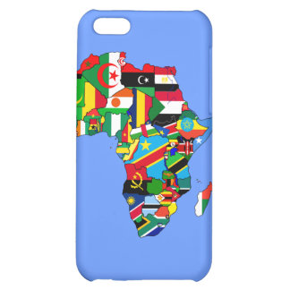 Mapa de las banderas de África - regalo africano d