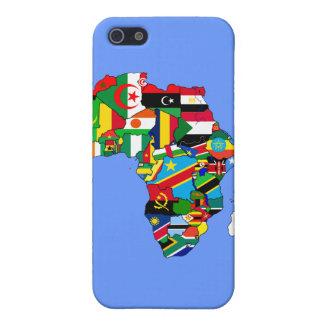 Mapa de las banderas de África - regalo africano d iPhone 5 Fundas