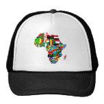 Mapa de las banderas de África - regalo africano d Gorro