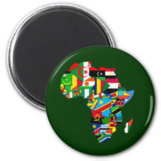 Mapa de las banderas de África - regalo africano d Imán Para Frigorifico