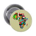 Mapa de las banderas de África - regalo africano d Pin Redondo 5 Cm