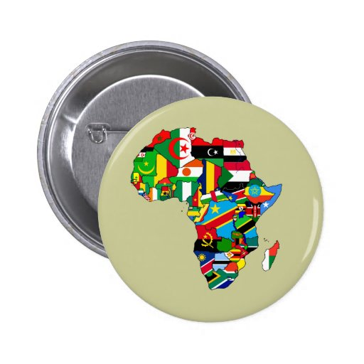 Mapa de las banderas de África - regalo africano d Pin