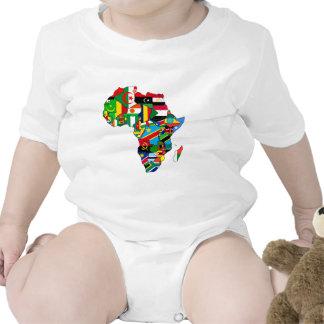 Mapa de las banderas de África - regalo africano d Traje De Bebé