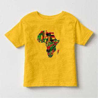 Mapa de las banderas de África - regalo africano Remera