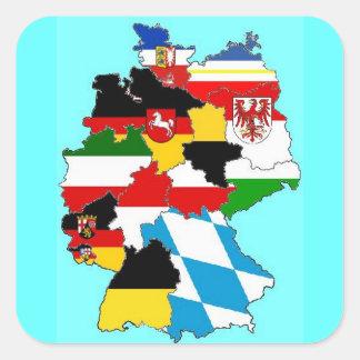 Mapa de las banderas del estado de Alemania