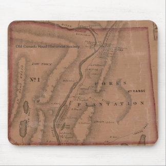 Mapa de las bifurcaciones, Maine - Mouspad del vin Tapete De Raton