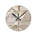 Mapa de las colonias inglesas en el Caribe, pub. p Relojes