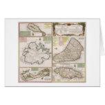 Mapa de las colonias inglesas en el Caribe, pub. p Tarjeta