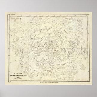 Mapa de las constelaciones 2 póster