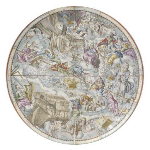 Mapa de las constelaciones cristianas según lo rep plato de comida
