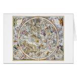 Mapa de las constelaciones cristianas según lo rep tarjeta de felicitación
