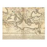 Mapa de las incursiones de los bárbaros postal