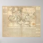 Mapa de las incursiones de los bárbaros póster