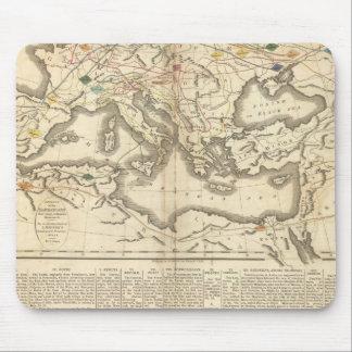 Mapa de las incursiones de los bárbaros tapete de ratón