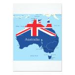 """Mapa de las invitaciones de Australia Invitación 5"""" X 7"""""""