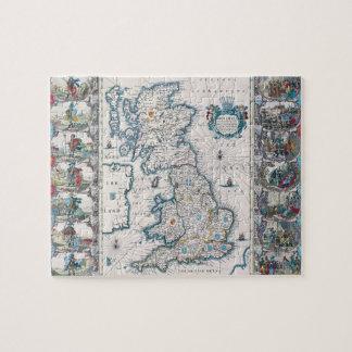 Mapa de las islas británicas 2 rompecabezas con fotos