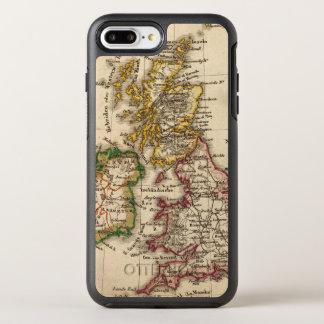 Mapa de las islas británicas funda OtterBox symmetry para iPhone 7 plus