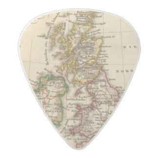 Mapa de las islas británicas plectro de acetal