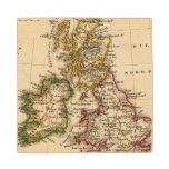 Mapa de las islas británicas posavasos de arce