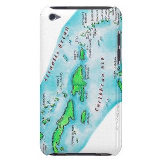 Mapa de las islas caribeñas Case-Mate iPod touch carcasas
