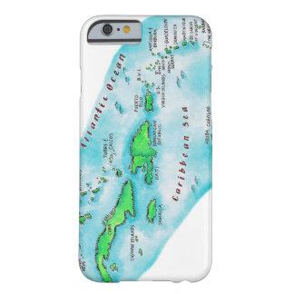 Mapa de las islas caribeñas funda para iPhone 6 barely there