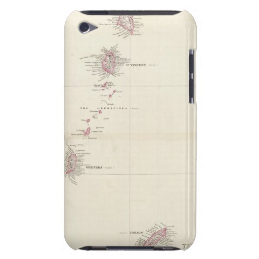 Mapa de las islas de barlovento Case-Mate iPod touch cobertura