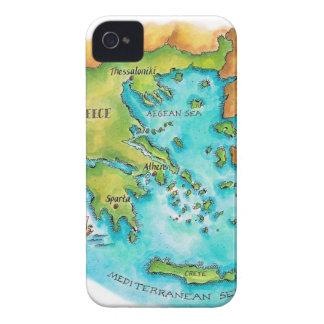 Mapa de las islas de Grecia Funda Para iPhone 4 De Case-Mate