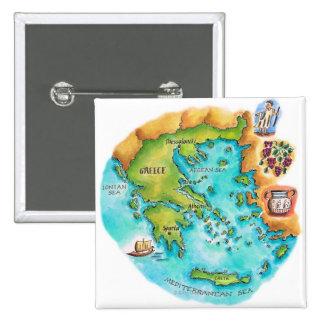Mapa de las islas de Grecia Pin