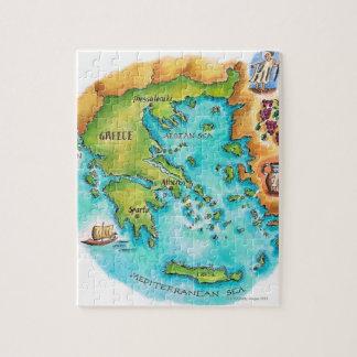 Mapa de las islas de Grecia Puzzle