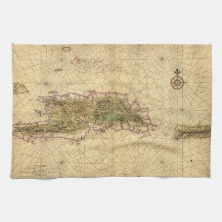 Mapa de las islas de La Española y de Puerto Rico Toalla
