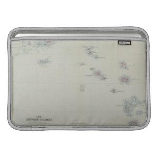 Mapa de las islas de sotavento fundas macbook air
